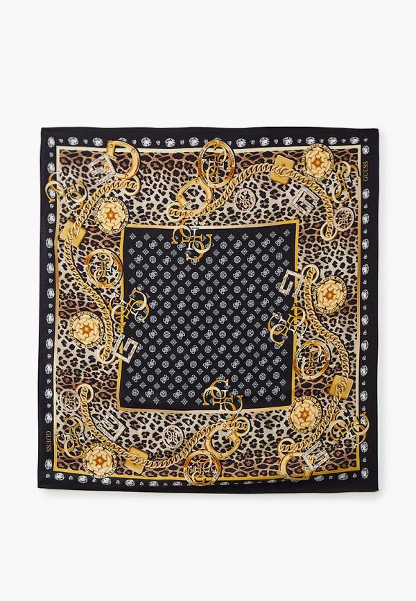 женский платок guess, черный