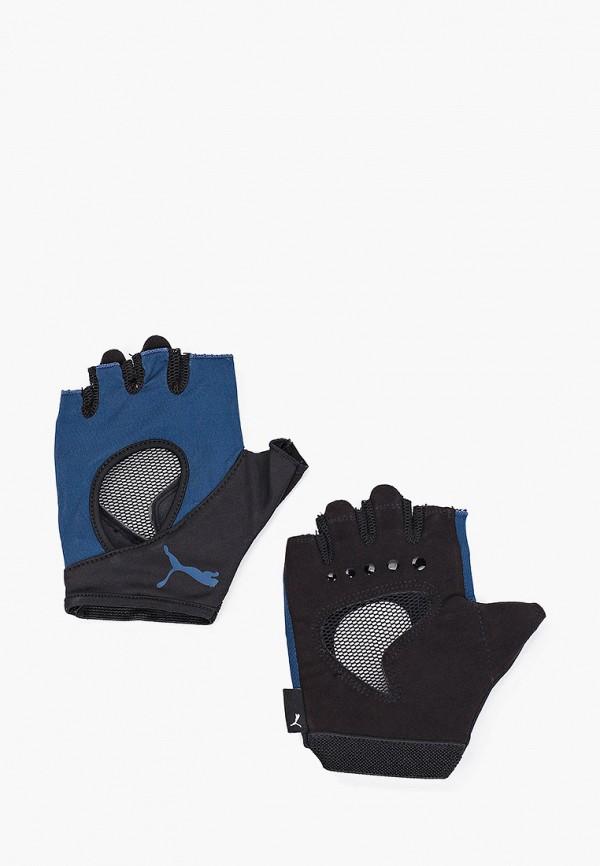 Перчатки для фитнеса PUMA синего цвета
