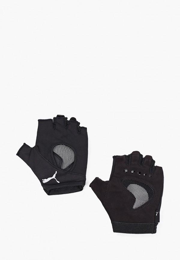 Перчатки для фитнеса PUMA черного цвета