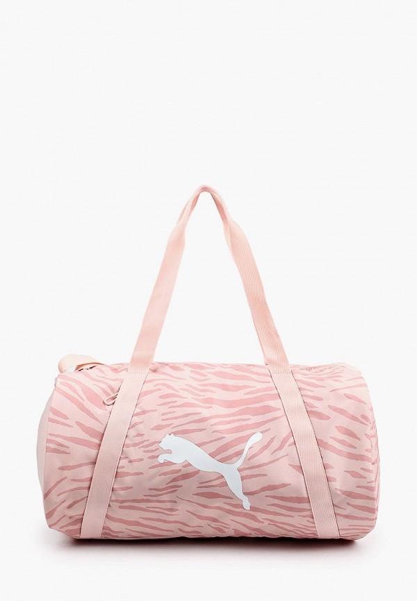 Сумка спортивная PUMA розового цвета