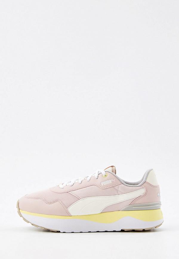 женские низкие кроссовки puma, розовые