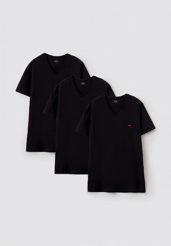 мужская футболка diesel, черная