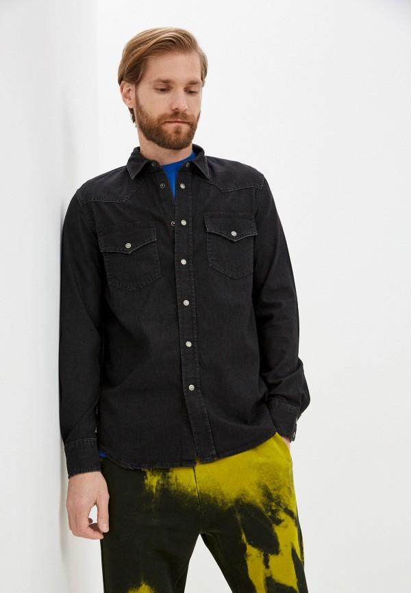 мужская джинсовые рубашка diesel, серая