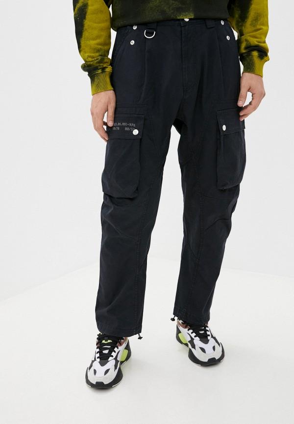 мужские брюки карго diesel, черные
