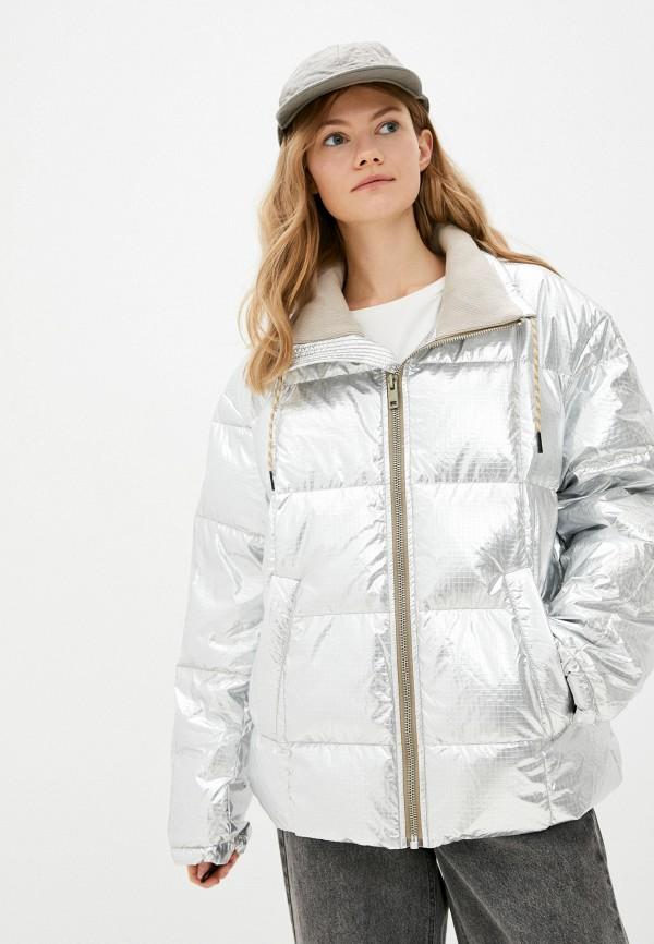 женская утепленные куртка diesel, серая