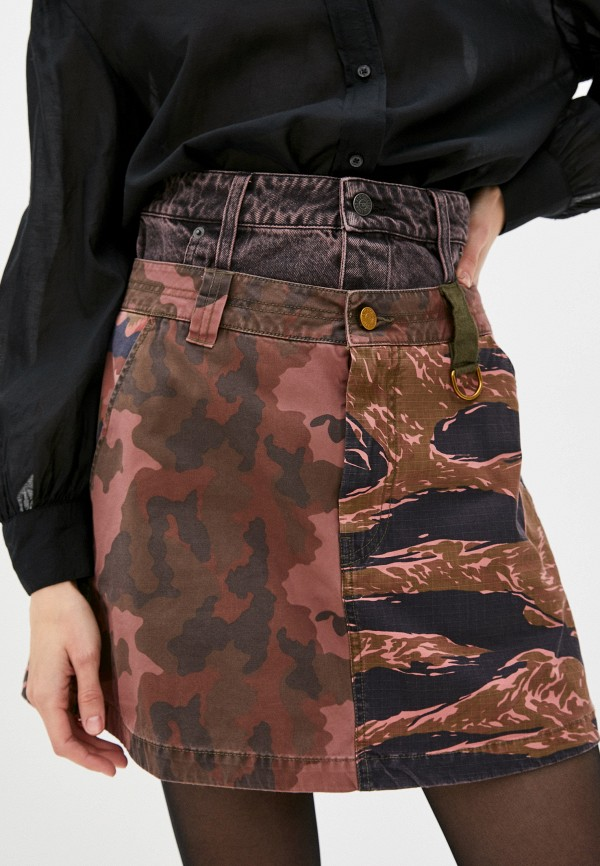 женская юбка-трапеции diesel, разноцветная