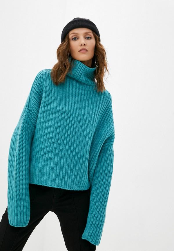 женский свитер diesel, бирюзовый
