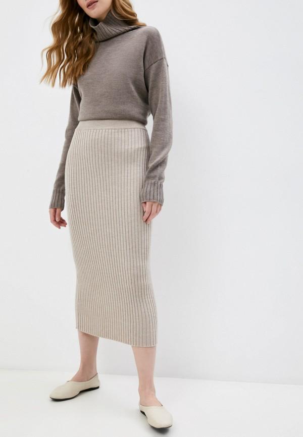 женская узкие юбка max mara leisure, бежевая