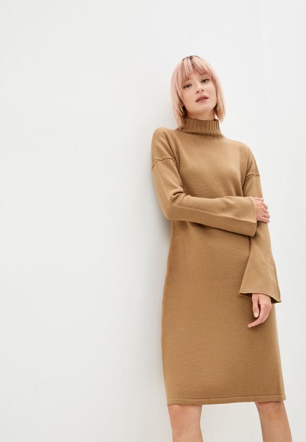 женское платье-свитеры max mara leisure, коричневое