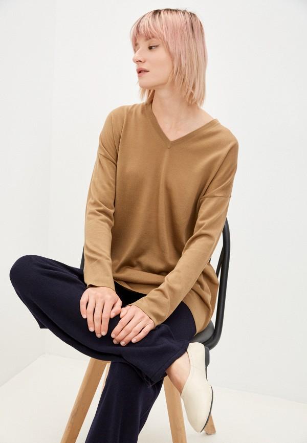 женский пуловер max mara leisure, коричневый