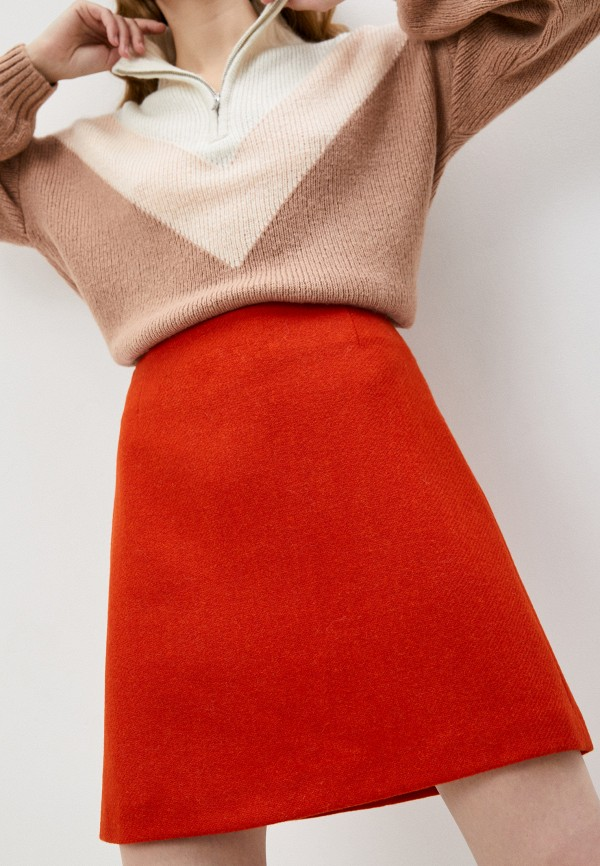 женская юбка-трапеции weekend by max mara, оранжевая