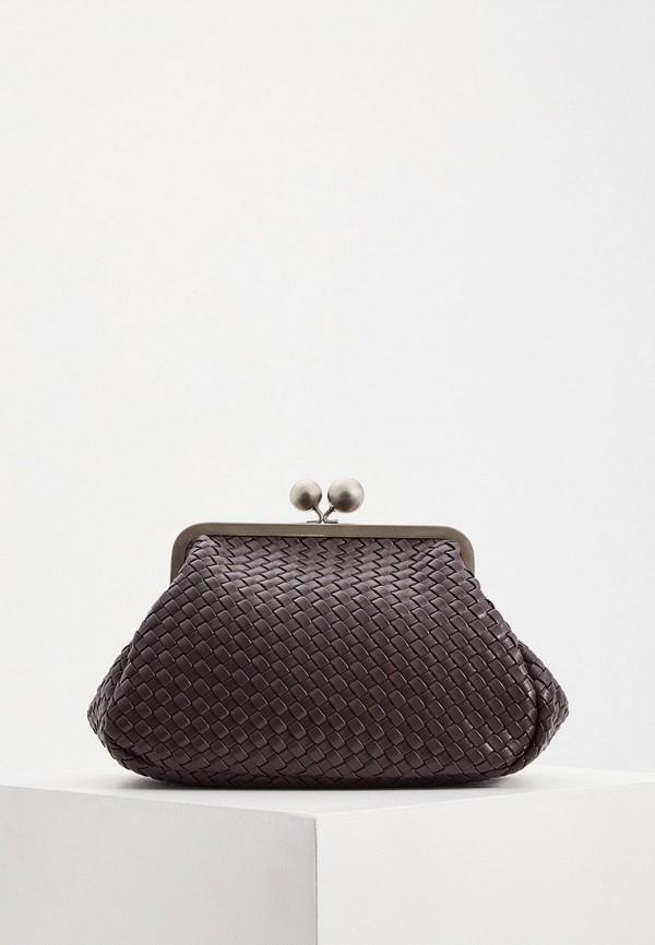 женская сумка через плечо weekend by max mara, коричневая