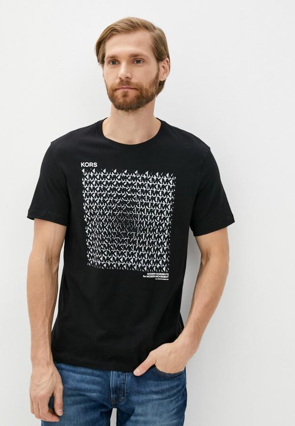 мужская футболка с коротким рукавом michael kors, черная