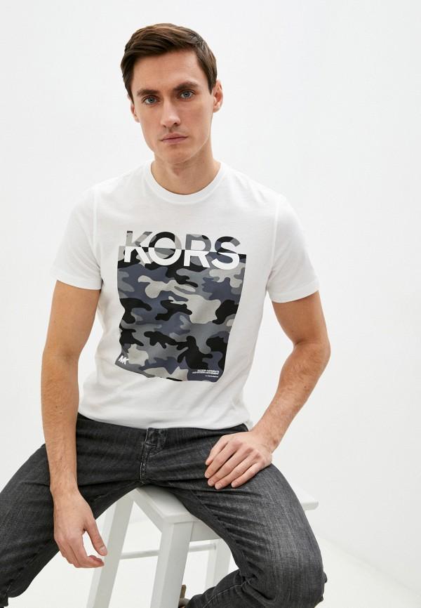мужская футболка с коротким рукавом michael kors, белая