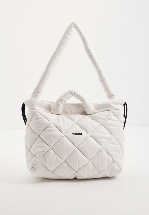 женская сумка с ручками vic matie, белая
