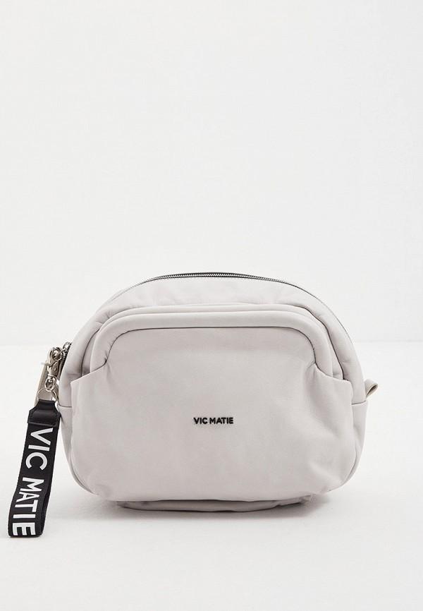 женская сумка через плечо vic matie, серая