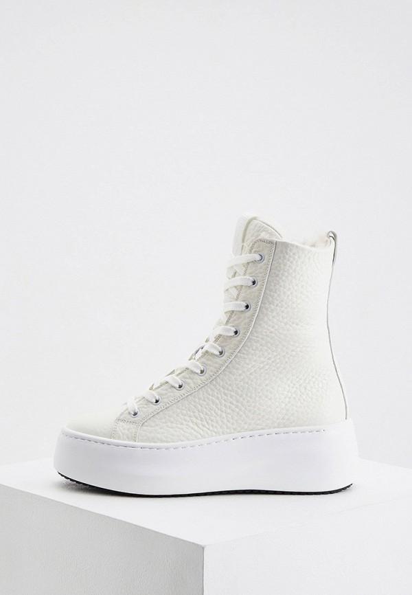 женские высокие ботинки vic matie, белые