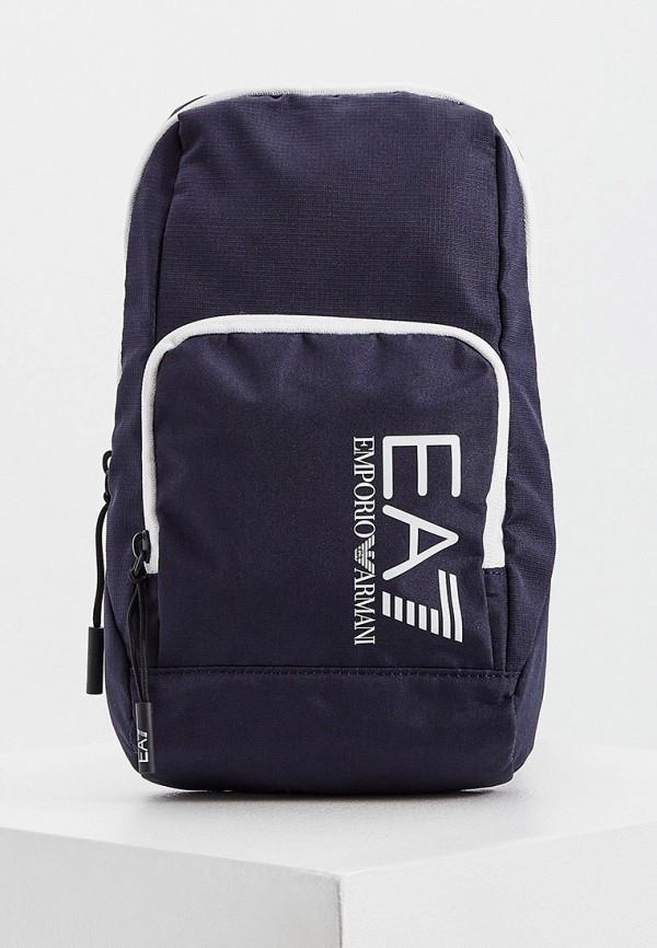 мужская сумка через плечо ea7, синяя