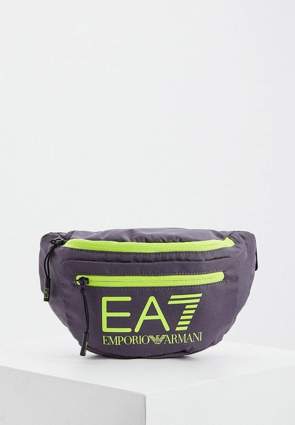мужская поясные сумка ea7, серая