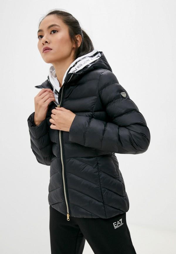 женская спортивные куртка ea7, черная