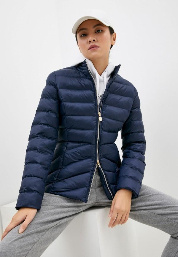 женская спортивные куртка ea7, синяя