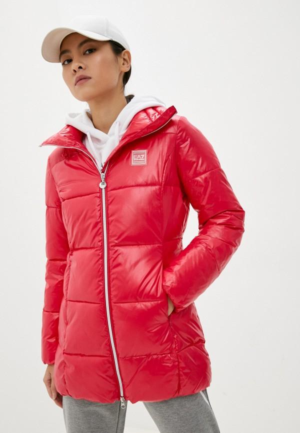 женская спортивные куртка ea7, розовая