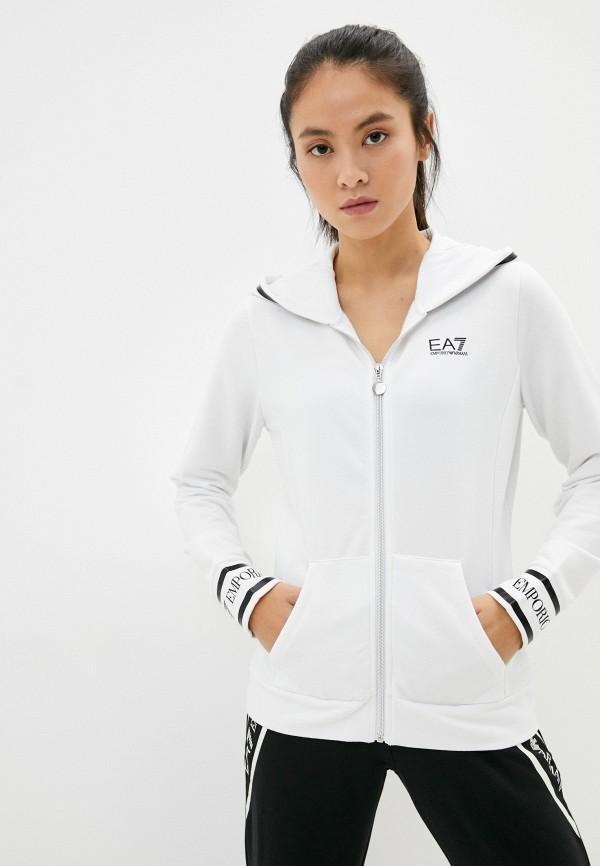 женская спортивные толстовка ea7, белая
