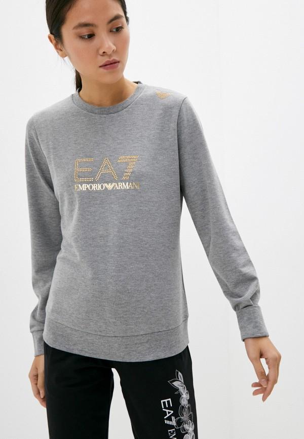 женский спортивные свитшот ea7, серый
