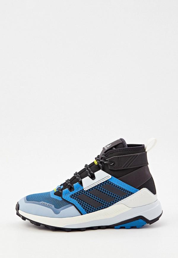 Ботинки трекинговые adidas синего цвета