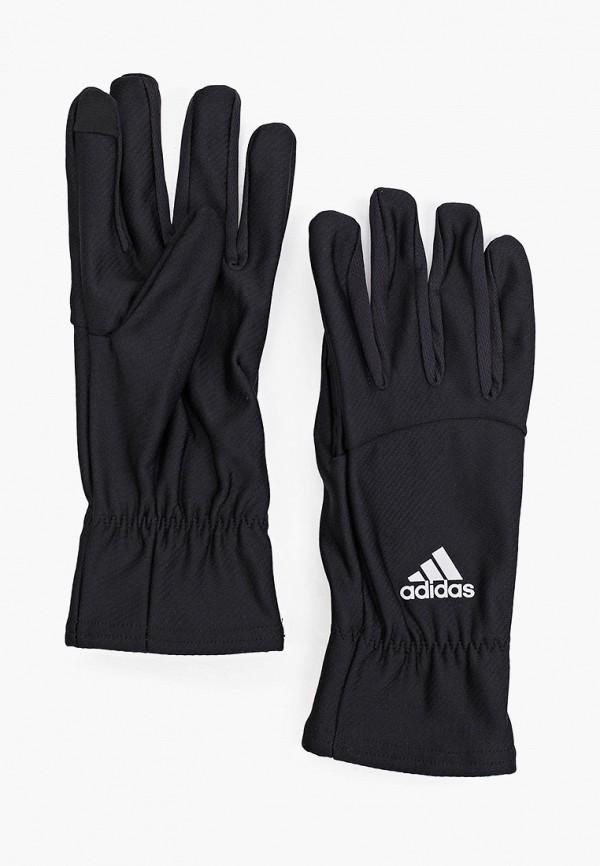 женские текстильные перчатки adidas, черные