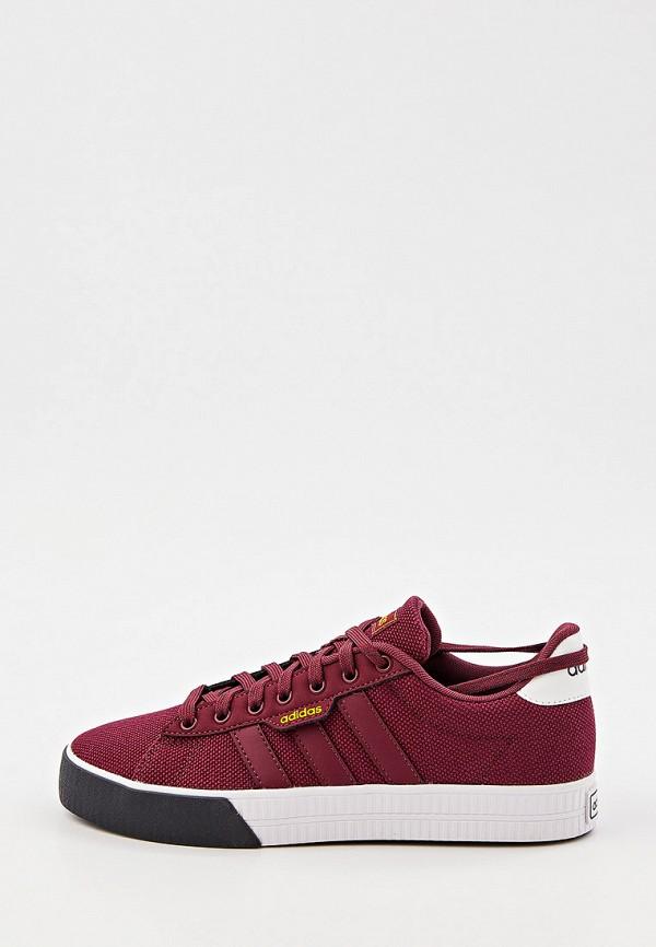 мужские низкие кеды adidas, бордовые