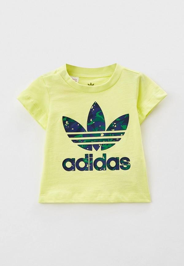 футболка с коротким рукавом adidas малыши, разноцветная