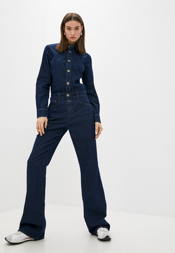 женский джинсовые комбинезон closed, синий