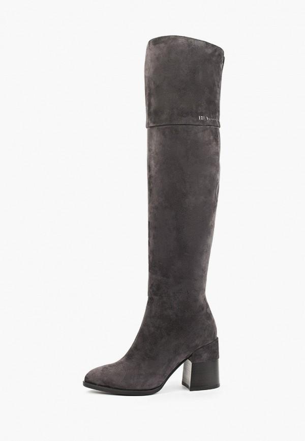 женские ботфорты covani, серые