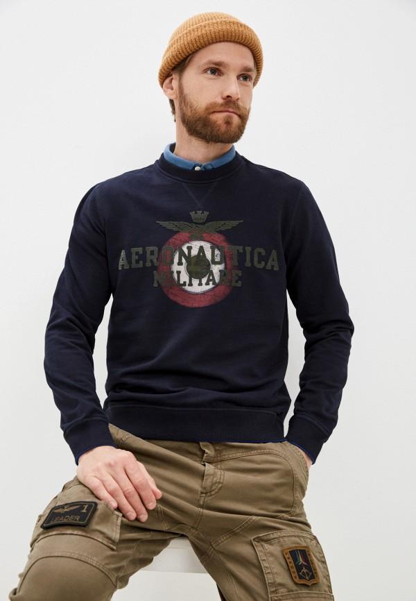 мужской свитшот aeronautica militare, синий