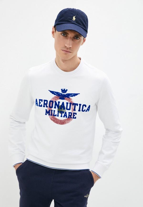 мужской свитшот aeronautica militare, белый