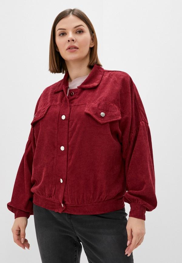женская рубашка с длинным рукавом lorabomb, бордовая