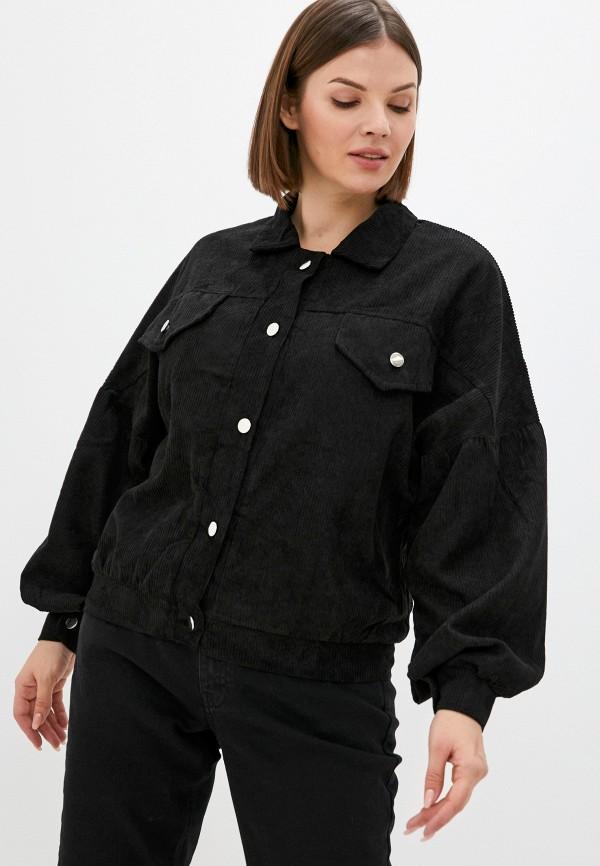 женская рубашка с длинным рукавом lorabomb, черная