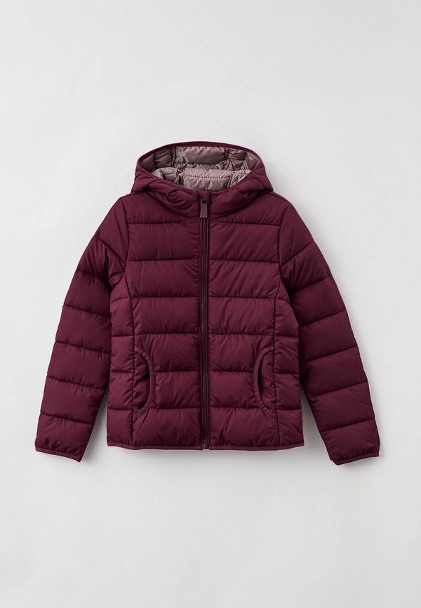 утепленные куртка s.oliver для девочки, фиолетовая