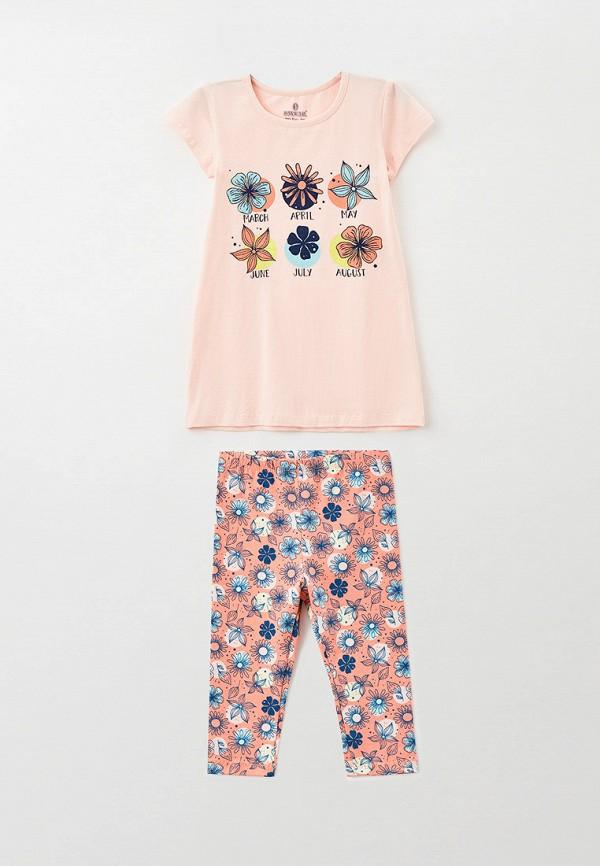 пижама baykar для девочки, розовая