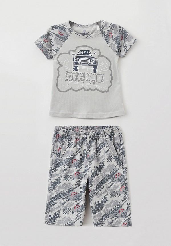 пижама baykar для мальчика, серая