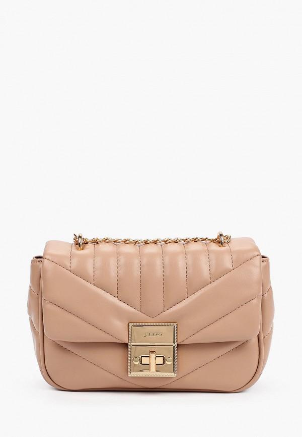 женская сумка через плечо aldo, розовая