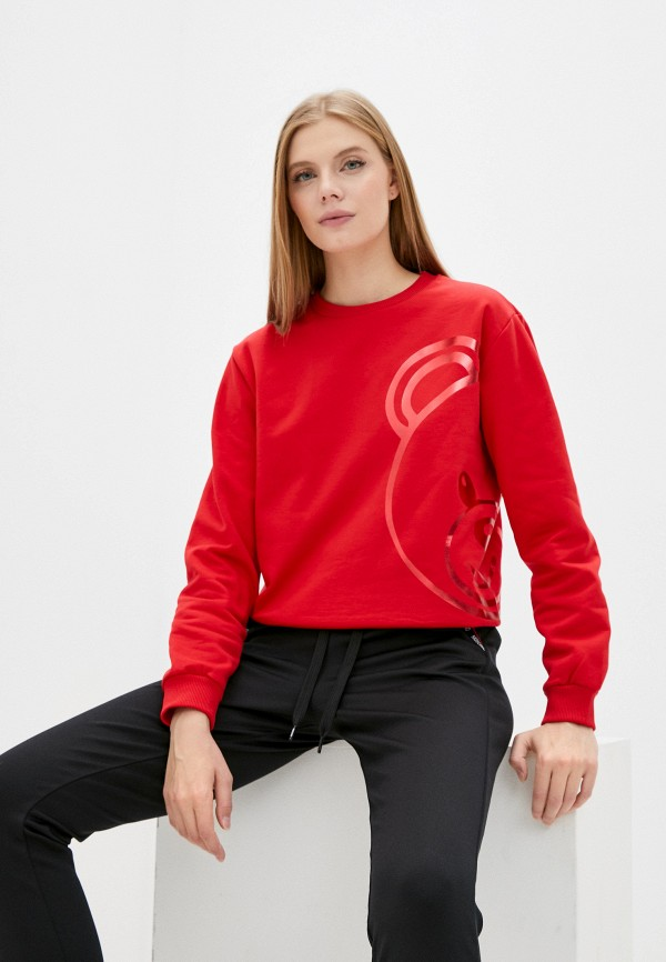 женский свитшот moschino underwear, красный