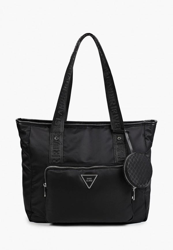 женский кошелёк с ручками river island, черный
