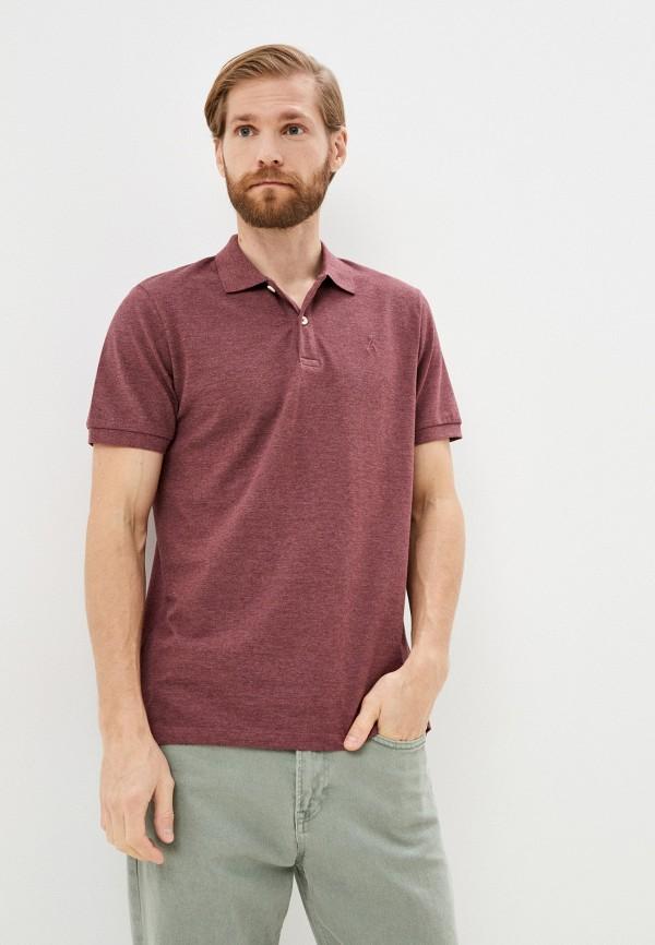 мужское поло с коротким рукавом produkt, бордовое