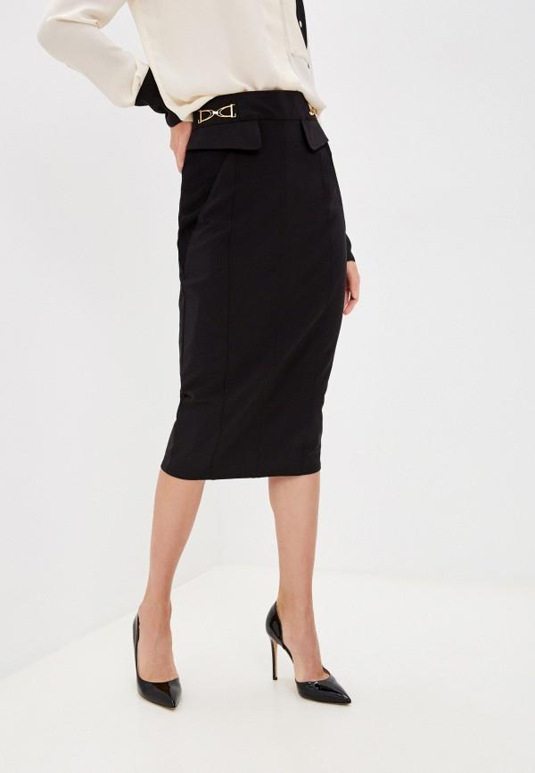 женская узкие юбка elisabetta franchi, черная