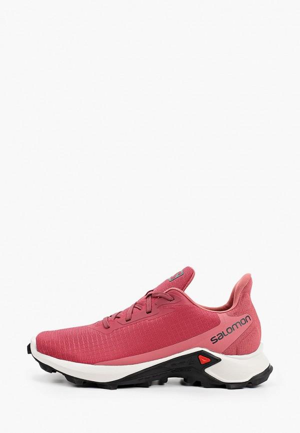 женские низкие кроссовки salomon, розовые