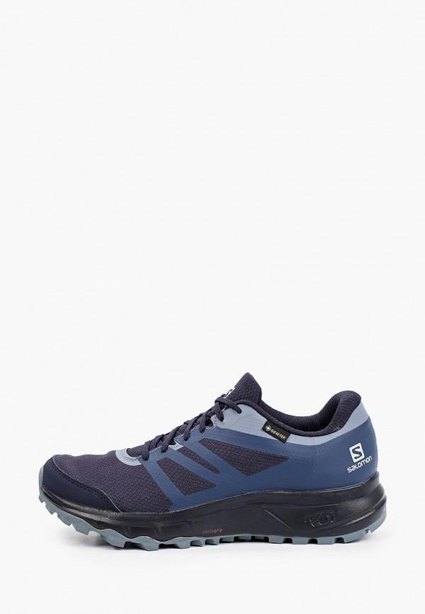 женские низкие кроссовки salomon, синие