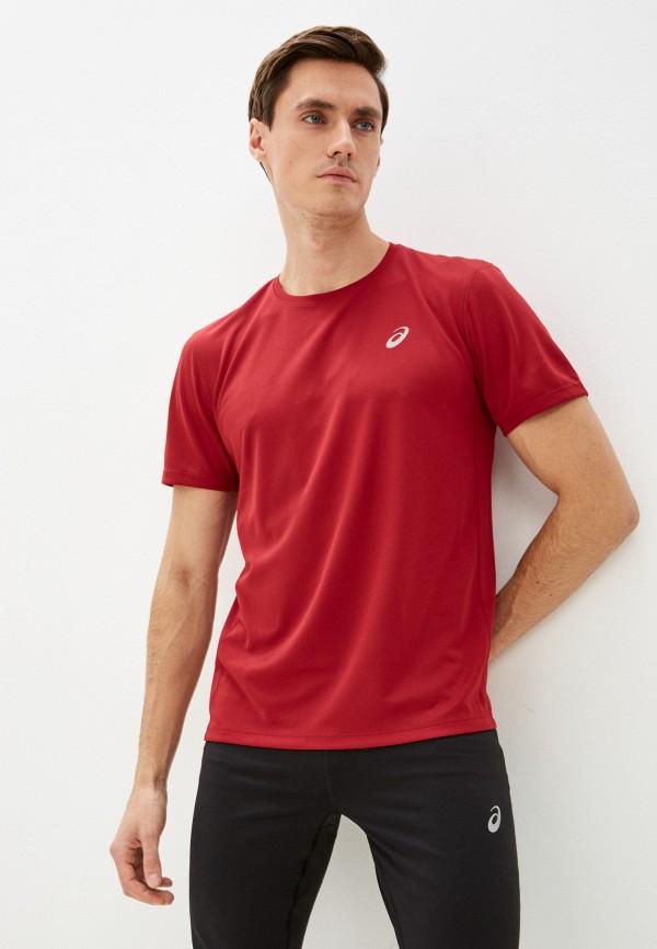 мужская спортивные футболка asics, бордовая