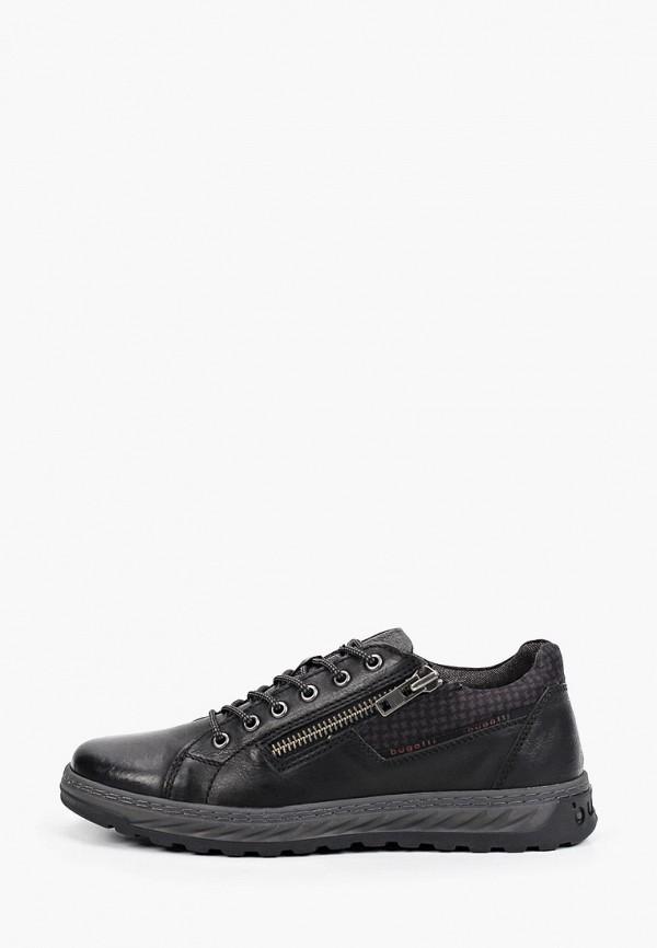 мужские низкие ботинки bugatti, черные
